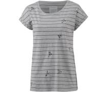 T-Shirt graumeliert / schwarz