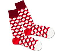 Socken 'Big Bloody Dice' rot / weiß