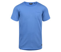 Rundhalsshirt 'Andrej' blau