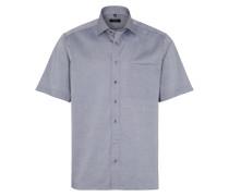 Hemd blau / grau / weiß