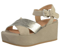 Sandalen dunkelbeige / silber