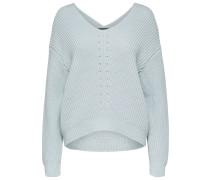 Pullover 'Pointelle' hellblau