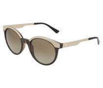 Sonnenbrille mit Rahmen in Gold-Optik