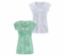 T-Shirts mint / weiß