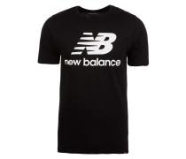 'Essentials Stacked Logo' T-Shirt Herren