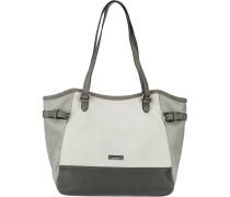 Shopper 'Juna' grau / basaltgrau / weiß