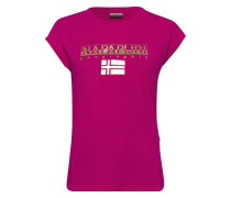 Print-Shirt fuchsia