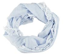 Baumwoll-Loop hellblau / weiß
