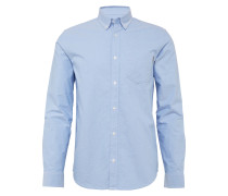 Hemd 'l/s Button Down Pocket' blau