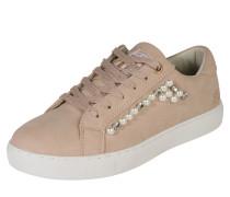 Sneaker mit Schmucksteinen rosa