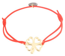Armband 'Clover' gold / rot