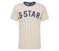 Shirt 'Wabash' creme / dunkelblau