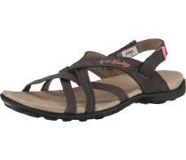 Sandalen dunkelbraun / lachs