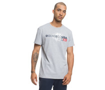 Strip Box T-Shirt grau