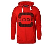 Sweatshirt 'Transire' rot / schwarz