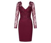 Kleid 'WS Brry LS VNK Plge' cranberry