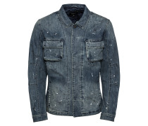 Jeansjacke blue denim / weiß