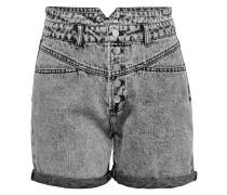 Jeansshorts 'HW 80ties' grau