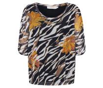 T-Shirt 'LullaCR' oliv / schwarz / weiß