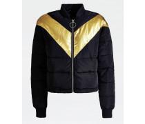 Wattierte Jacke gold / schwarz