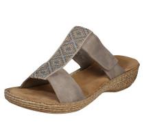 Slipper 'Sandale' mit Besatz beige