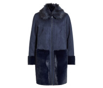 Mantel 'vilonia Faux Sherling Jacket' navy