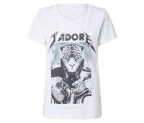 Shirt 'Jadore' schwarz / weiß