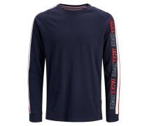 Shirt kobaltblau / rot / weiß