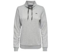Stehkragen Sweatshirt grau