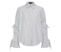 Bluse mit Streifenmuster grau / offwhite