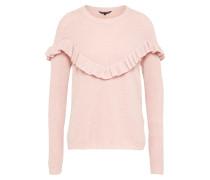 Pullover 'frills Vshape' rosa