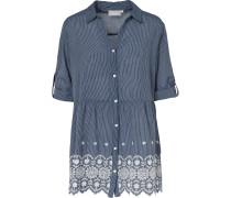 Bluse 'Natunic' blau / weiß