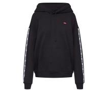 Sweatshirt 'Unbasic Hoodie' schwarz / weiß