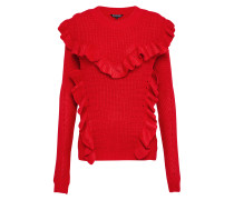 Pullover 'ruffle Oversize' rot