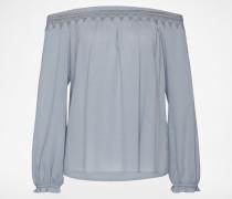 Off-Shoulder Bluse 'ac1129' blau / grau