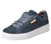 Sneaker mit Lochmuster und Plateau