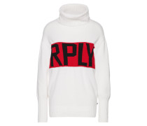 Pullover rot / weiß