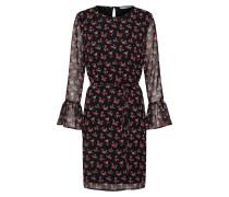 Kleid pastellrot / schwarz