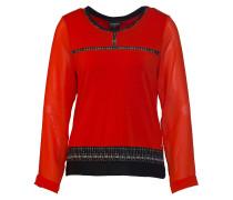 Shirt hellbeige / rot / schwarz