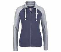 Shirtjacke marine / graumeliert / weiß