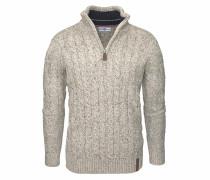 Troyer-Pullover beigemeliert