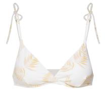 Bikinitop 'dos palmas tali' gelb / weiß