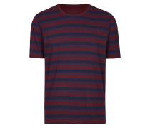 T-Shirt navy / blutrot / weinrot
