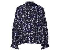 Bluse 'Printed Blouse' blau