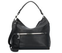 Adria Handtasche Leder 32 cm schwarz