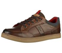 Sneaker ecru / braun / dunkelbraun / rot