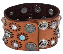 Armband hellblau / braun / schwarz