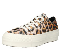 Sneaker 'platform' braun / schwarz / weiß