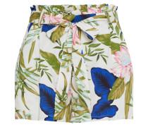 Shorts creme / dunkelblau / hellgrün / rosa