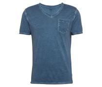 T-Shirt im Garment Dyed - Ciravi blau